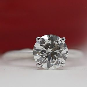 2.04 Carat Diamond 14k Gold Engagement Ring